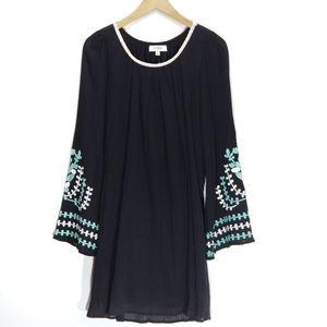 Umgee | Embroidered Floral Boho Tunic Dress
